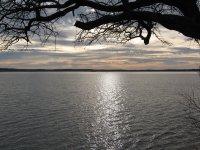 Clinton Lake at dusk